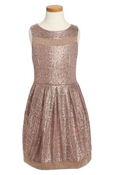 Free shipping and returns on Elisa B 'Sparkling Snake' Sleeveless Party Dress (Big Girls) at Nordstrom.com. A shimmering snake print lends a touch of wild style to a fun skater dress detailed with sueded trim at the hem and yoke.