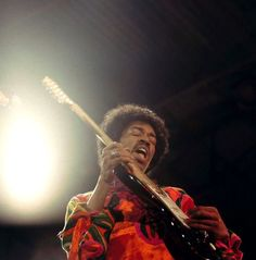 Jimi Hendrix at Isle of Wight, 1970.   David Redfern