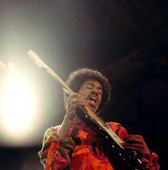 Jimi Hendrix at Isle of Wight, 1970.   David Redfern