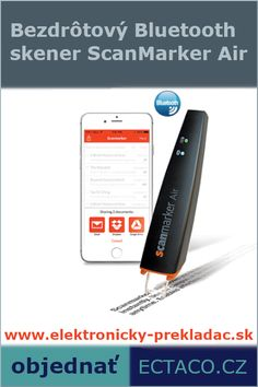 Bezdrôtový Bluetooth ručný skener ScanMarker Air – Voice Translators Anobic Bluetooth, Phone, Tech Gadgets, Telephone, Mobile Phones