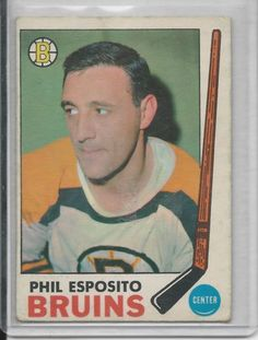 1969-70 OPC Phil EspositoBoston Bruins # 30 EX