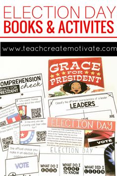 Perfect Read alouds and activities for teaching the Presidental Election to students