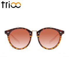 Available in 8 Colors Gradient Acrylic Lens Plastic Frame Retro Sunglasses, Round Sunglasses, Sunglasses Women, Glasses Brands, Color Lenses, Gradient Color, Eyewear, Womens Fashion, Vintage