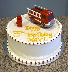 Awesome 3D firetruck birthday cake
