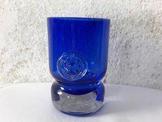 Royalblue Murano, glass, vase, vintage, 70s