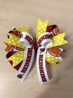Washington Redskins large hair bow