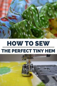 How to sew a beautiful rolled hem on your machine with this specialty foot. Using the special rolled hem foot takes care of everything in a single pass - quick, easy and oh-so pretty. A basic rolled hem is perfect for napkins. Also works great on things like a circle skirt where you need a really narrow hem. It's all covered in this tutorial and tips at The Sewing Loft. Read more here...
