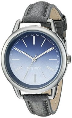 Women's Wrist Watches - Nine West Womens NW1793BLTP Blue Ombre Dial Grey Strap Watch -- You can get more details by clicking on the image. (This is an Amazon affiliate link)