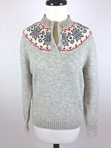Woolrich Sweater Wool Knit Gray Collar Neck Luxury Ski Snow Womens M 38 Casual Wear Women, Wool Sweaters, Ski, Sweaters For Women, Gray, Knitting, Best Deals, Luxury, How To Wear