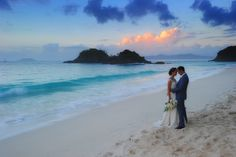 Gorgeous Sunset photos by Blue Glass Photography on Trunk Bay, St. John.