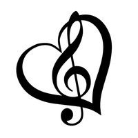 Measures about 10 x 12 cm Color:Black or White Note:Because the sticker is made of reflective mat Guitar Tattoo Design, Music Tattoo Designs, Music Tattoos, Music Symbol Tattoo, Treble Clef Heart, Treble Clef Tattoo, Note Tattoo, Tattoo Cat, Music Symbols