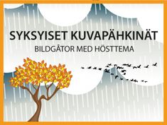 Syksyiset kuvapähkinät -aivojumppaa | Bildgåtor med höstema -hjärngympa #syksy #muistipeli #kuvapeli #aivojumppa #hjärngympa #ryhmätoiminta #grupp #verksamhet #viriketoiminta #lokakuu #syyskuu #muistisairaus #demens #höst #gåtor Teaching Kindergarten, Teaching Kids, Kids Learning, Primary English, Autumn Art, Early Childhood Education, Wasting Time, Special Education, Learning Activities