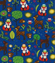 Novelty Cotton Fabric-Wilderness
