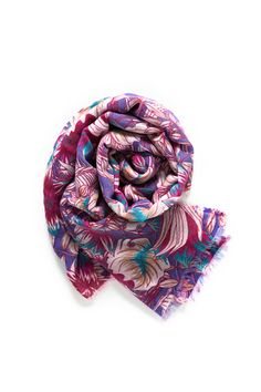 Fashion Lady Shawls,Comfortable Warm Winter Scarfs Soft Cashmere Scarf For Women Pink Fuschia Vintage Fuchsia Flower Authentic Bloom Blossom Bouquet Branch