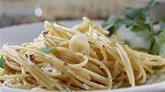Thin Spaghetti with Garlic, Red Pepper and Olive Oil Recipe - Allrecipes.com