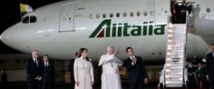 Pope Francis' Plane Hit by Laser in Mexico City. A laser light shone on Alitalia plane with Pope Francis on board when it prepared to land at the airport. Aviation Blog, Pope Francis, International Airport, Mexico City, Plane, Aircraft, Europe, Reading, Celebrities