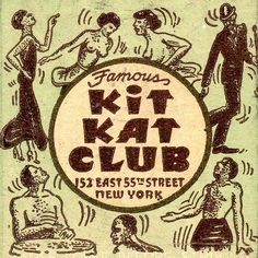 "Detail, NYC's ""Famous"" Kit Kat Club vintage matchbook cover.-- A Lifetime Legacy -- http://ALifetimeLegacy.com"