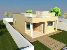 New Luxury houses like a dreams My House Plans, Small House Plans, Flat Roof House Designs, House Construction Plan, Modern Bungalow House, Outdoor Furniture Sets, Outdoor Decor, Luxury Homes, Facade