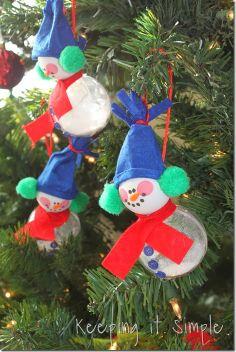 Keeping it Simple: Snowman Ball Ornament