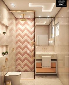 53 Bathroom Design Tips Trending This Year - Home Decor HD New Interior Design, Bathroom Interior Design, Bad Inspiration, Bathroom Inspiration, Bathroom Ideas, Bathroom Design Small, Modern Bathroom, Bathroom Pink, Bath Design