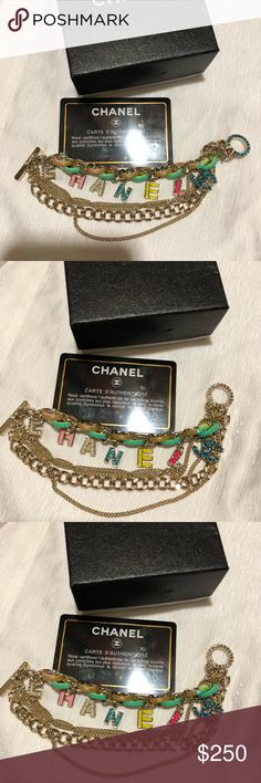 Chanel bracelet with box and card Size 16 small Jewelry Bracelets