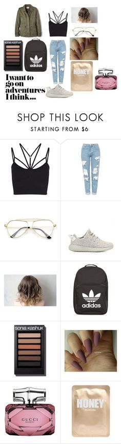 """""""Nudes..."""" by joyneely ❤ liked on Polyvore featuring Sweaty Betty, Topshop, adidas Originals, adidas, Gucci, Lapcos and Velvet by Graham & Spencer"""