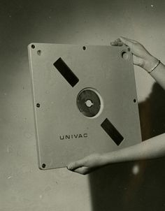 "my-retro-vintage: "" Univac 9000 Series disk cartridge prototype with a MB capacity 1966 "" Computer Love, Micro Computer, Computer Science, Radios, Electronics Storage, Electronics Gadgets, Sistema Global, 8 Bits, Old Technology"