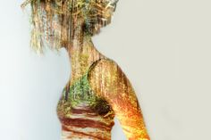"Deep double exposure photography from the project ""Insideout"" by Grain Pixels photography Forest i s a parallel Universe Pixel Photography, Portrait Photography, Multiple Exposure Photography, Parallel Universe, Deep, Hair Styles, Beauty, Hair Plait Styles, Hairdos"