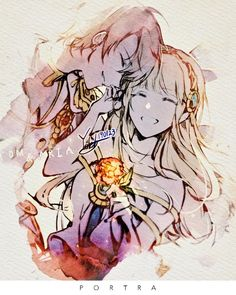 Aria & Phantom   watercolour Anime Couples Cuddling, Anime Couples Hugging, Anime Couples Drawings, Anime Couples Manga, Couple Drawings, Cute Anime Couples, Anime Cupples, Anime Art, Anime Cosplay