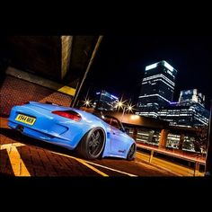 #building #bridge #night #sky #tarmac #cool #slammed #porsche #boxster…