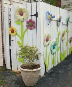 Jazz up a boring fence
