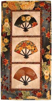Castillejo Cotton Patterns: japanese fans