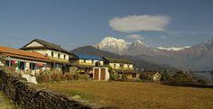 Trekking destination Annpurna Region in Nepal.