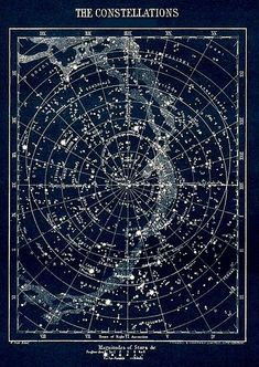antique Constellation star map circa vintage map of stars visible in Britain Astronomy star chart blue white. I 💙 this stunning poster. I am in love with the cosmos ✨✨. Cosmos, Diy Wanddekorationen, Astronomy Stars, Ciel Nocturne, Star Constellations, Star Chart, Vintage Maps, Antique Maps, Collage Vintage