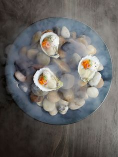 Shigoku oysters mignonette with kohlrabi by chef Matt lambert. © Signe Birck - See more at: http://theartofplating.com/editorial/awakening-the-spirit-of-new-zealand-with-matt-lambert-at-the-musket-room/#sthash.OPBepvZv.dpuf