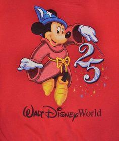 Walt DISNEY World 25th Anniversary 1971-1996 Mickey Mouse (S) SweatShirt USA 564a513a78b