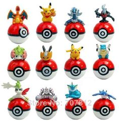 Pokemon Action Figures 12PCS/Set. Cute for Pokemon birthday decor or party favors.