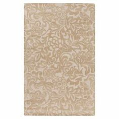With an intricate floral motif and neutral palette, this eye-catching wool rug offers chic appeal for homes of any aesthetic  Product: RugConstruction Material: 100% New Zealand woolColor: IvoryFeatures: Hand-tuftedDimensions: 5' x 8' Note: Please be aware that actual colors may vary from those shown on your screen. Accent rugs may also not show the entire pattern that the corresponding area rugs have. Cleaning and Care: With a dry cotton towel or white paper towel, blot out stain as much…