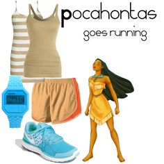 Pocahontas goes running by angiodancer, via Polyvore