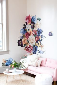 Vintage Floral Wall Decals 2019 Vintage Floral Wall Decals Project Nursery The post Vintage Floral Wall Decals 2019 appeared first on Floral Decor.