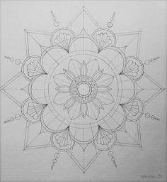 tattoo - mandala - art - design - line - henna - hand - back - sketch - doodle - girl - tat - tats - ink - inked - buddha - spirit - rose - symetric - etnic - inspired - design - sketch Mandala Art Lesson, Mandala Artwork, Mandala Painting, Mandala Pattern, Zentangle Patterns, Pattern Art, Mandala Sketch, Mandala Drawing, African Art Paintings