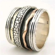 Spinning rings silver and gold Meditation Rings