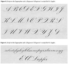 Copperplate script evolved from English round hand script, & is a style characterized by letters being made with a combination of separate, individual strokes using finger movement. All lowercase letters are shaded, letters are written quite close together, curves are based on rounded forms, and the action is fairly slow and deliberate. #hand_lettering