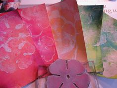 Miek tries al kind of techniques, here she used alcoholink blending solution on paintcards from the DIY store..fantastic results!