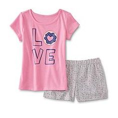 21452126a Toughskins Toddler Girl's Tank Top & Shorts - Floral | Brinley ...