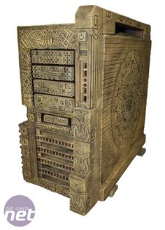 Hand-carved Aztec style PC case mod. Click through to see in-progress shots and some of the astonishing detail in the carvings.