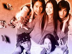 the final wallpaper of the meteor garden pic, i posted. Meteor Garden by blueswirls Ken Chu, Vaness Wu, Jerry Yan, F4 Meteor Garden, Kissing Scenes, Japanese Drama, Boys Over Flowers, Close My Eyes, Asian Actors