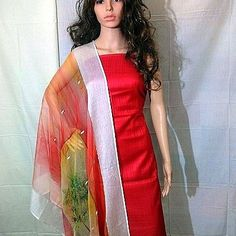 Light red shaded dupatta