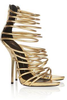 POPSUGAR Shopping: Giuseppe ZanottiMetallic leather sandals
