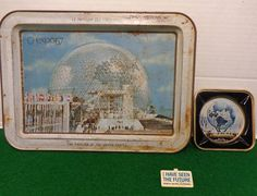 Vintage The Pavilion of the United States Tray, New York World's Fair 1964-65 Tin Ash Tray And I Have Seen The Future General Motors Pin by Bringingpast2Present on Etsy